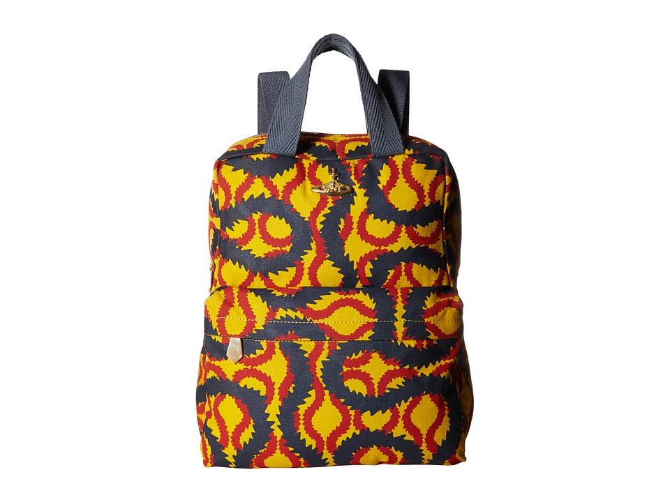 Vivienne Westwood Africa Squiggle Backpack/Shopper (Yello...