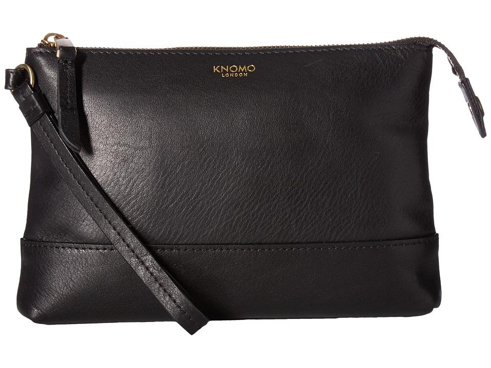 KNOMO London - Mayfair Luxe Bond Power Purse w/ 3000 mAh Battery (Black) Wallet