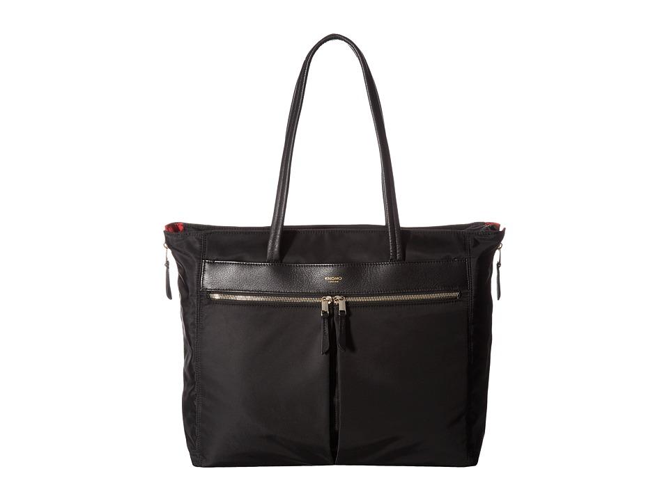KNOMO London - Mayfair Grosvenor Place Expandable Top Zip Tote (Black) Tote Handbags