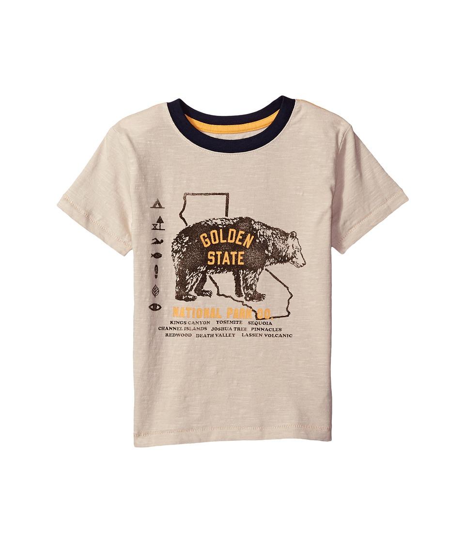 Lucky Brand Kids Short Sleeve Tee with Bear Print (Little Kids/Big Kids) (Pelican) Boy