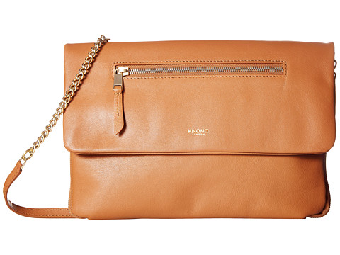 KNOMO London Mayfair Luxe Elektronista Digital Clutch Bag - Caramel