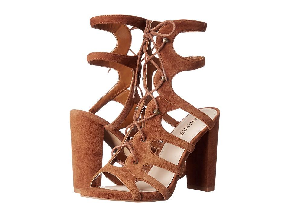 Nine West - Kanti (Cognac Kid Suede) Womens Sandals