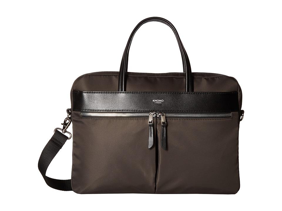 KNOMO London Mayfair Hanover Slim Brief (Kombu/Black) Briefcase Bags