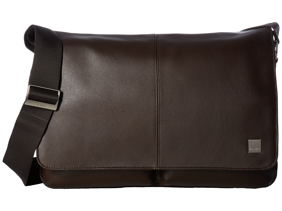 KNOMO London Brompton Classic Kobe Messenger (Brown) Messenger Bags
