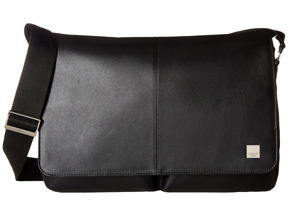 KNOMO London Brompton Classic Kobe Messenger (Black) Messenger Bags