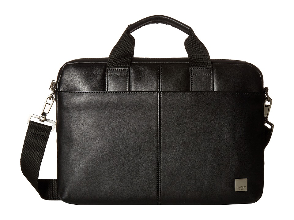KNOMO London Brompton Classic Stanford Slim Briefcase (Black) Briefcase Bags