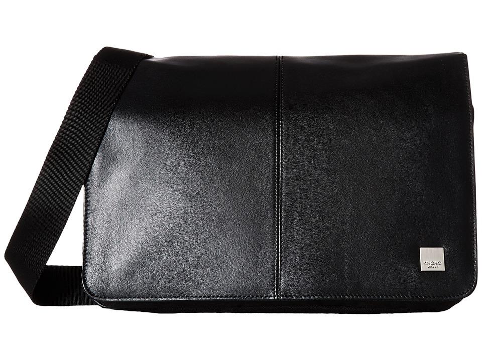KNOMO London - Brompton Classic Kinsale Crossbody Messenger (Black) Messenger Bags
