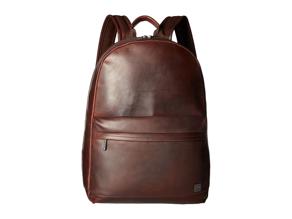 Knomo London - Barbican Albion Laptop Backpack (Brown) Backpack Bags