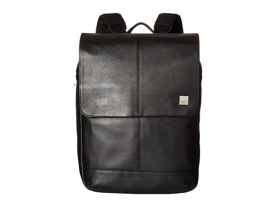 KNOMO London - Brompton Classic Hudson Flap Backpack (Bla...