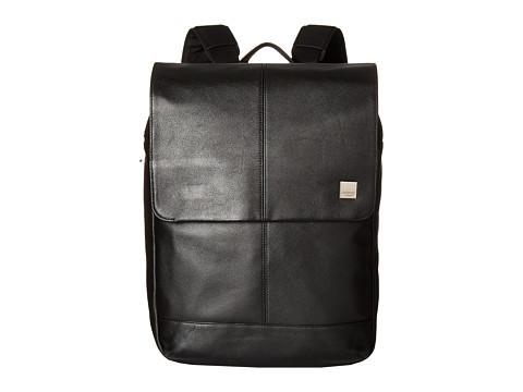 KNOMO London Brompton Classic Hudson Flap Backpack - Black