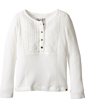 Lucky Brand Kids - Long Sleeve Thermal Top with Embroidery (Toddler)