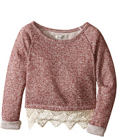 Lucky Brand Kids - Popover Top with Lace Trim and Lurex Detail (Toddler)
