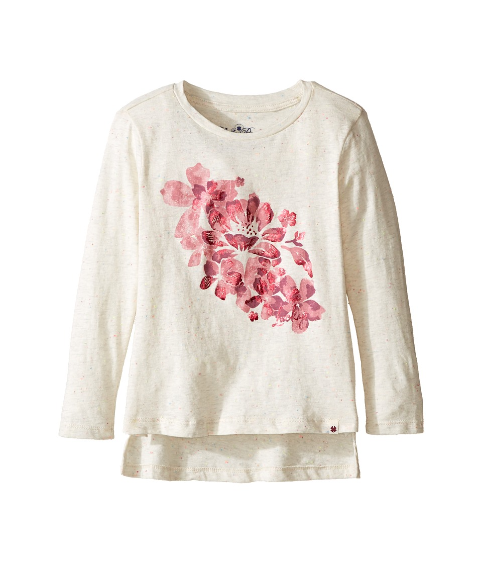 Lucky Brand Kids Pullover Tee with Floral Screen Print (Toddler) (Pristine) Girl
