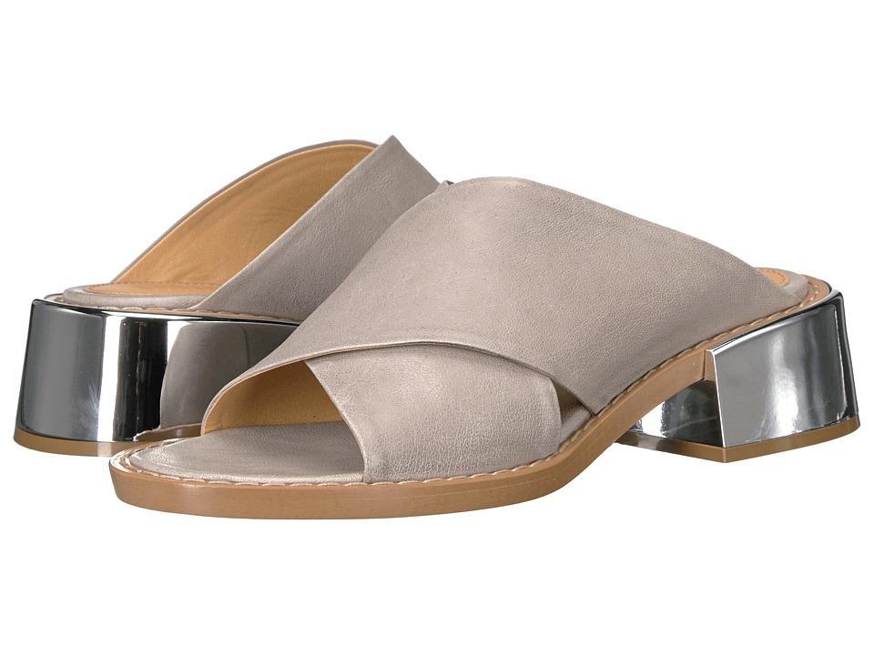 MM6 Maison Margiela - Metallic Wide Heel Mule