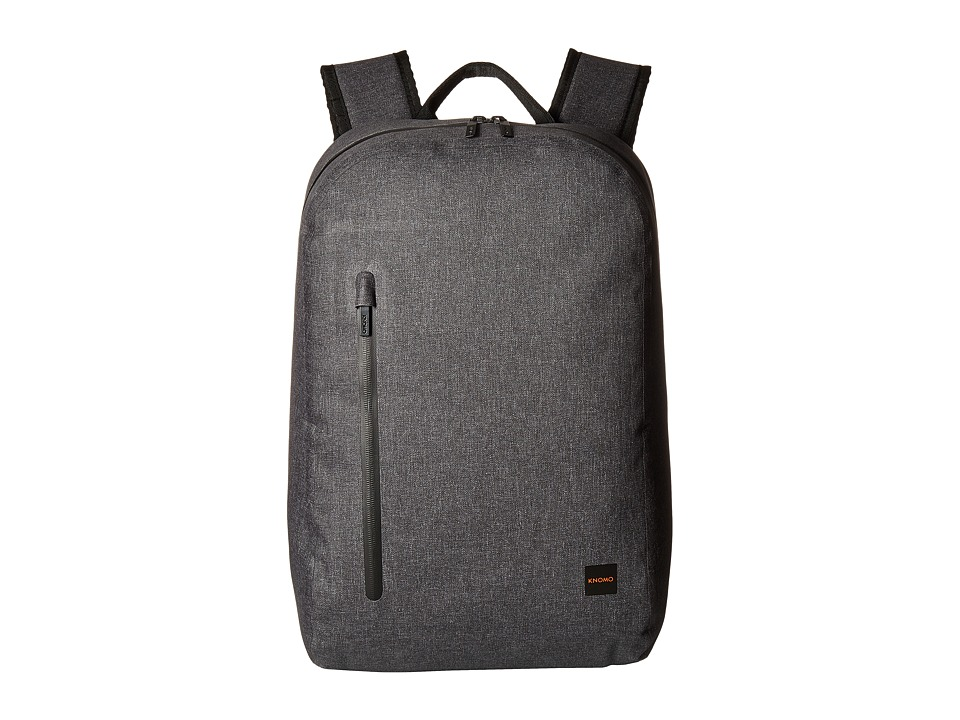 "Knomo Thames Collection 'Harpsden' Water Resistant 14"" Laptop Backpack Grey Leather, Nylon, Polyurethane"