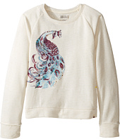 Lucky Brand Kids - Pullover Crew Neck Shirt with Peacock Design (Big Kids)