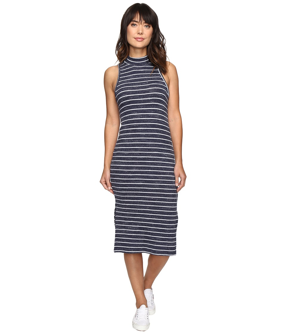 Splendid Striped Rib Dress (Navy) Women