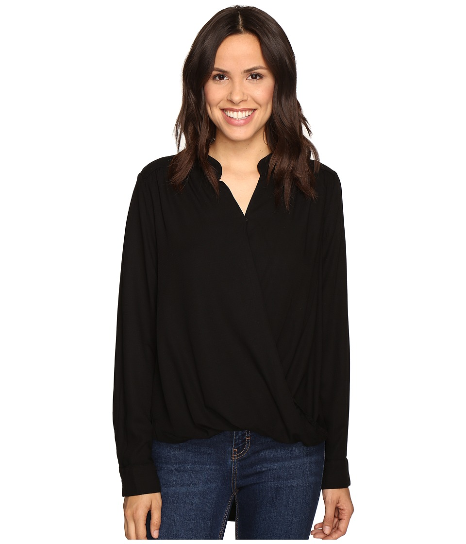 Splendid Surplice Top (Black) Women