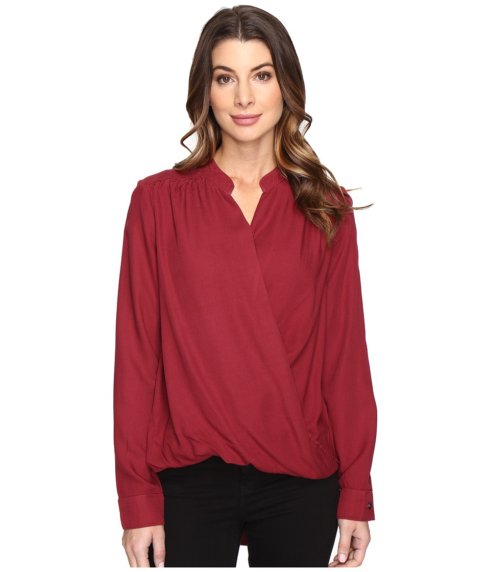 Splendid Surplice Top (Maroon) Women