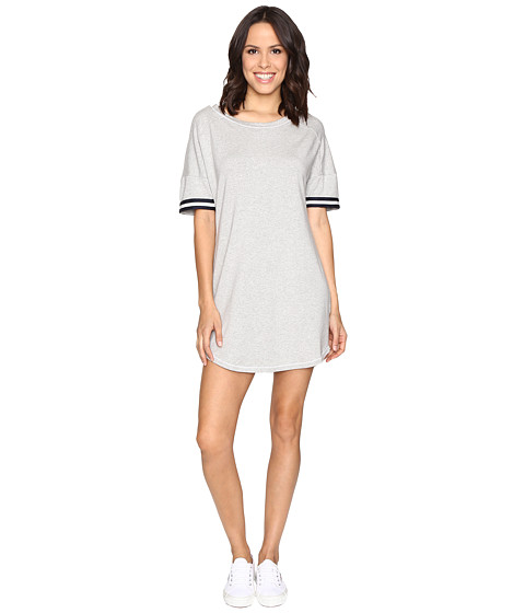 Splendid Stripe Sleeve Dress - Heather Grey