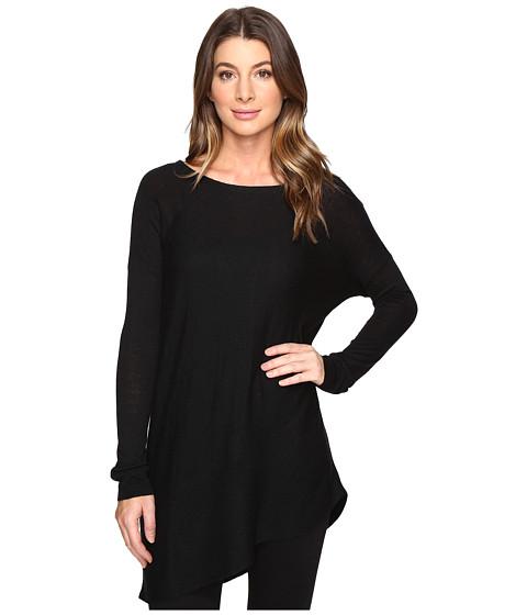 Splendid Asymmetrical Hem Pullover - Black
