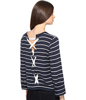 Splendid - Dune Stripe Lace Up Back Top