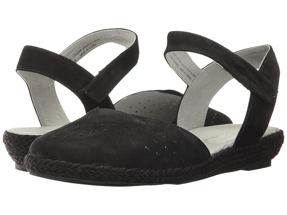 David Tate - Canyon (Black Nubuck) Women's Sandals