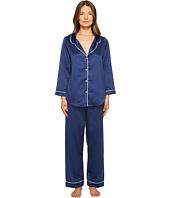 Oscar de la Renta Pink Label - Matte Satin Pajama Set