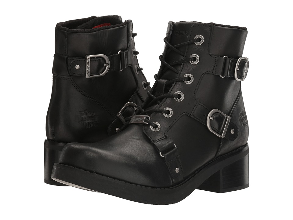 Harley Davidson Bonsallo (Black) Women's Lace-up Boots