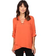 Karen Kane - Lace-Up Roll-Tab Top