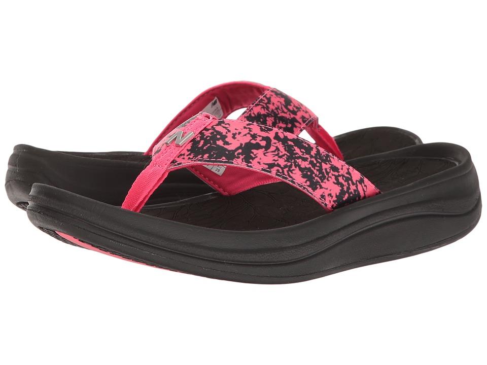 New Balance - Revive Sport Thong (Black/Pink) Women's Sandals