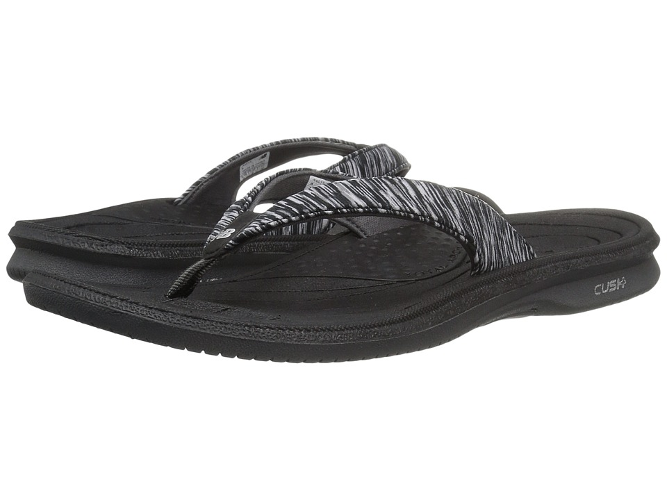 New Balance Cush+ Heathered Thong (Black) Sandals