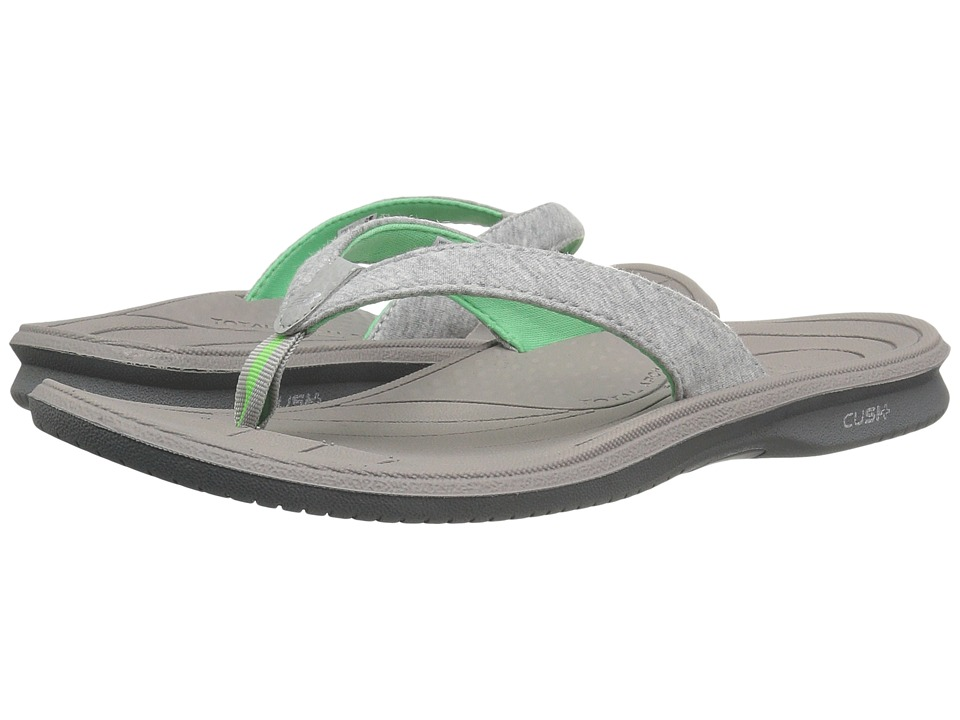 New Balance Cush+ Heathered Thong (Grey/Green) Women