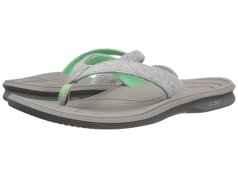 New Balance Cush+ Heathered Thong (Grey/Green) Women