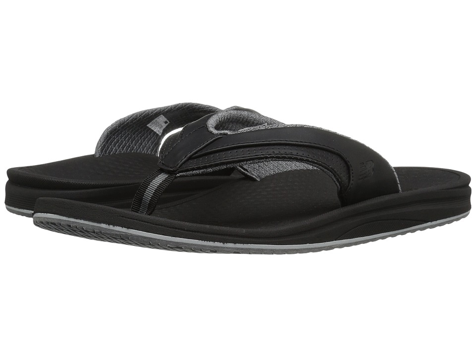 New Balance - Purealign Recharge Thong (Black/Grey) Men's Sandals