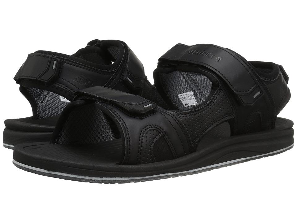 New Balance - Purealign Recharge Sandal (Black) Men's Sandals
