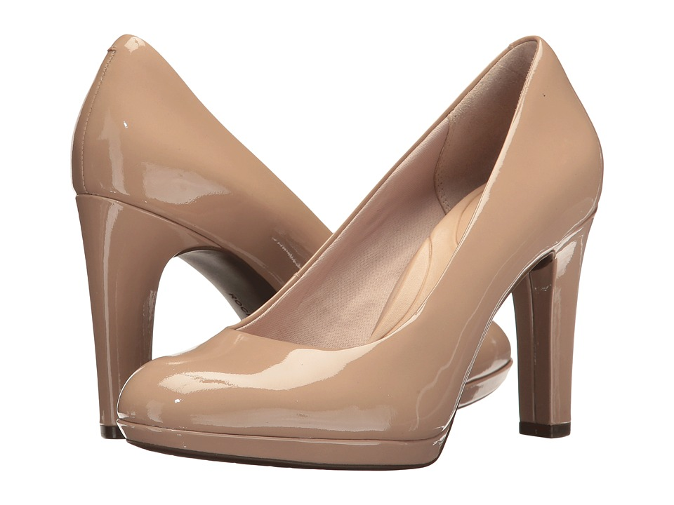 Rockport Seven To 7 Ally Plain Pump (Dark Taupe) Women's Shoes