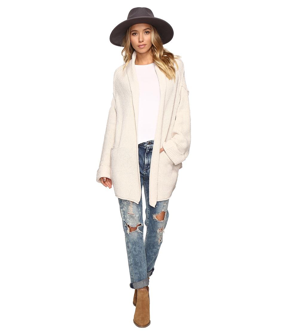 Free People Low Tide Cardigan Sweater (Cream Super Soft Leather) Women