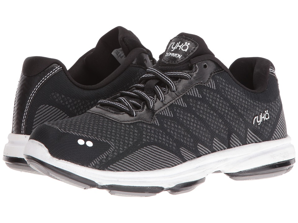 Ryka Dominion (Black/White) Walking Shoes