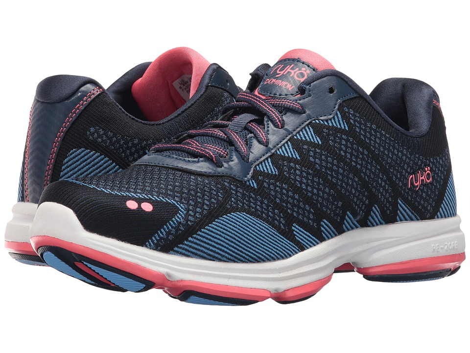 Ryka Dominion (Insignia Blue/Elsa Blue/Coral Rose) Women