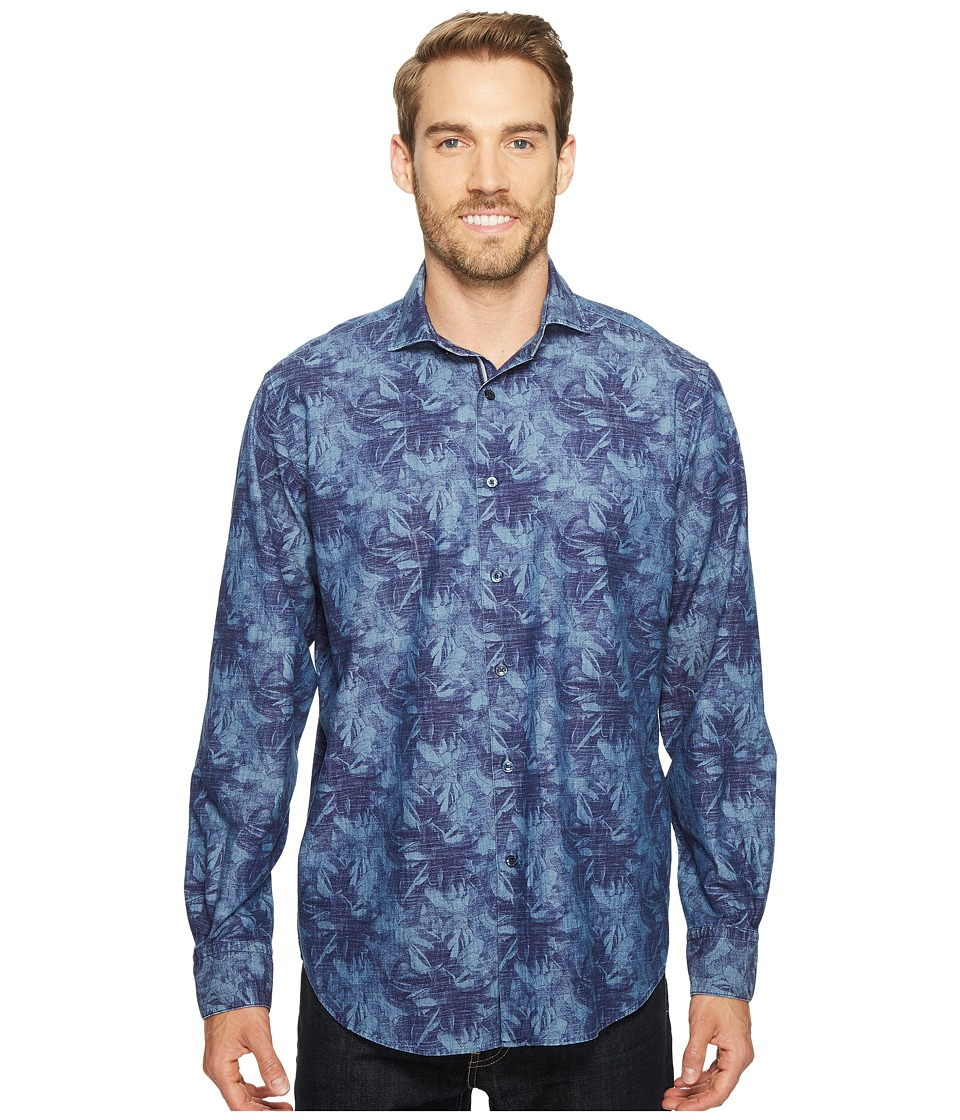 BUGATCHI - Long Sleeve Classic Fit Spread Collar Shirt