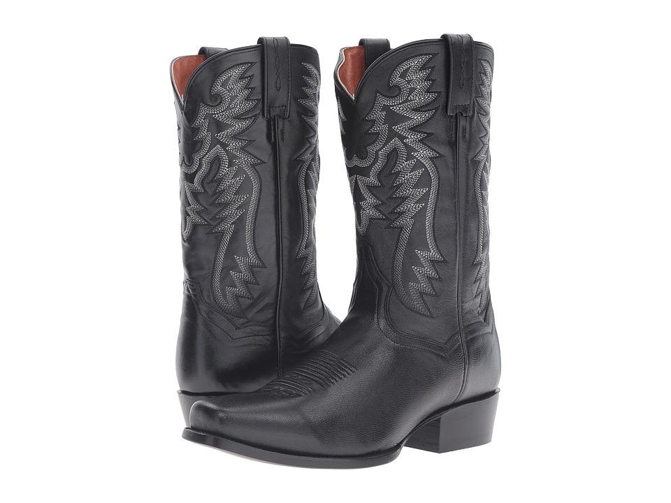 Dan Post Crosby (Black Goat) Cowboy Boots