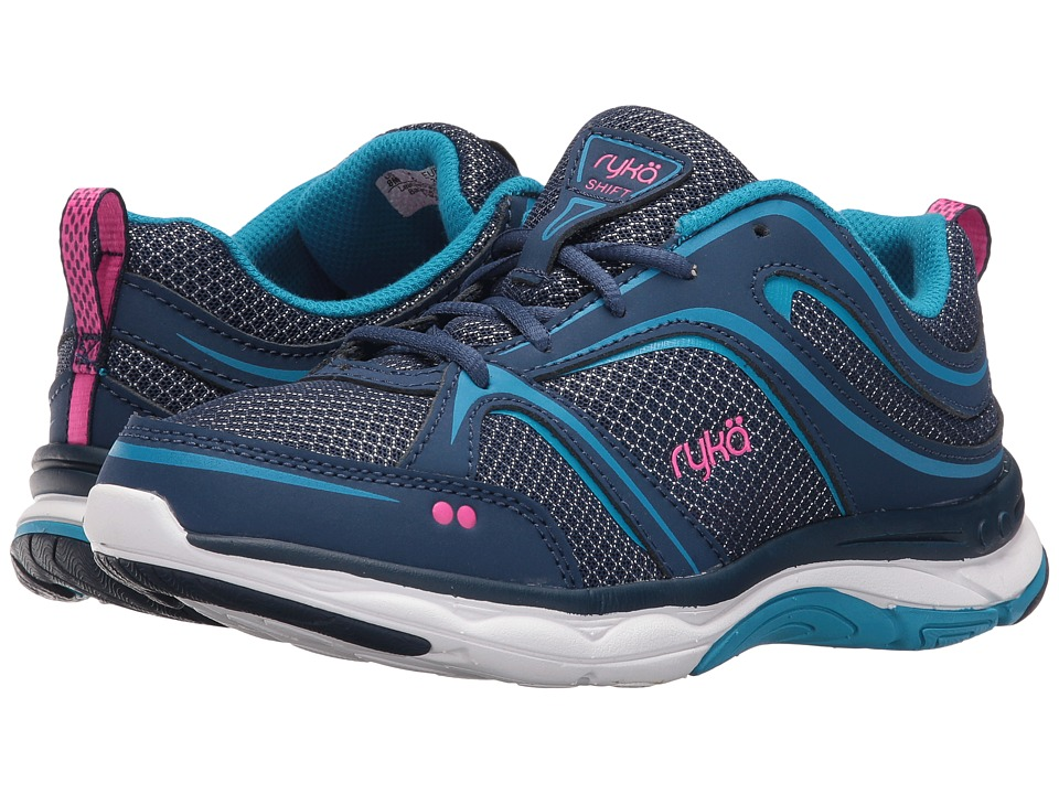Ryka - Shift (Jet Ink Blue/Malibu Teal/Pink) Womens Shoes