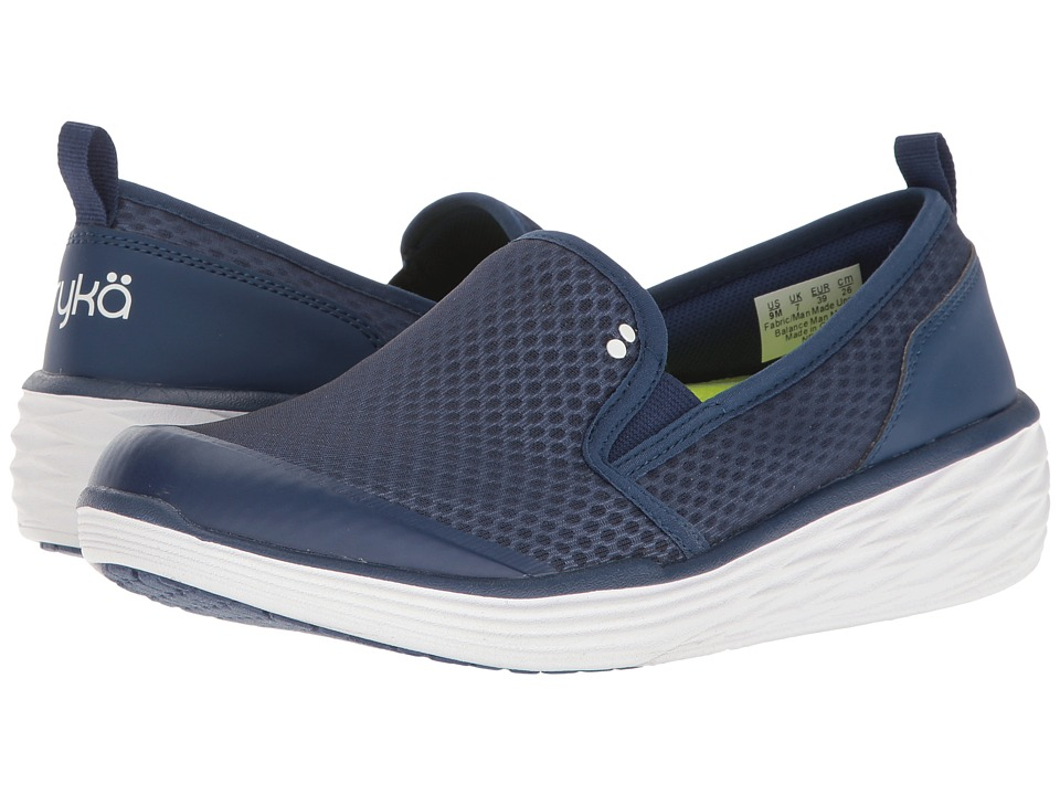 Ryka Neve (Jet Ink Blue/Lime Shock/White) Women