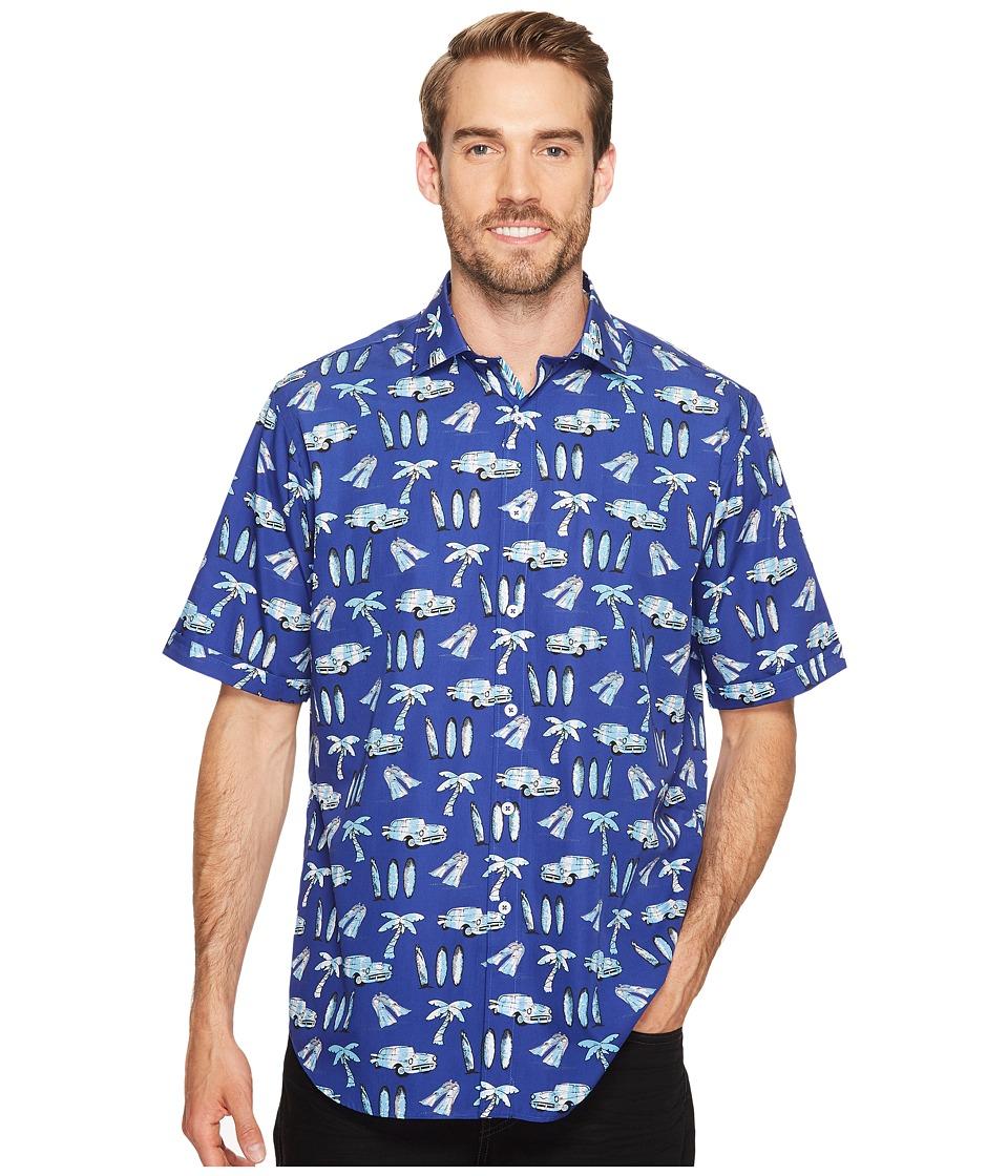 BUGATCHI - Short Sleeve Classic Fit Point Collar Shirt