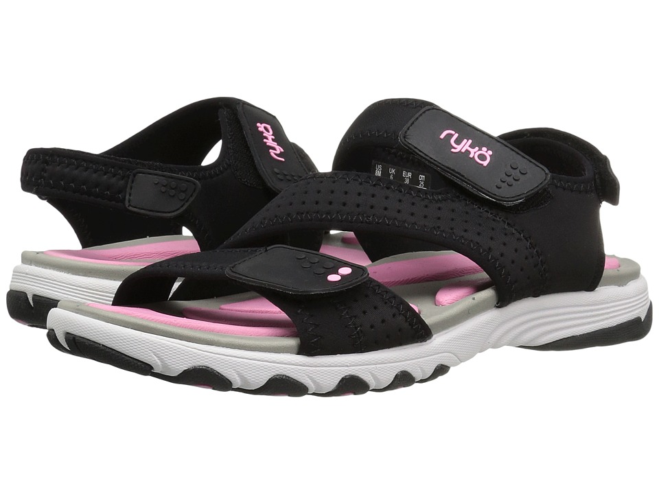 Ryka Dominica (Black/Cotton Candy/Chrome Silver) Women