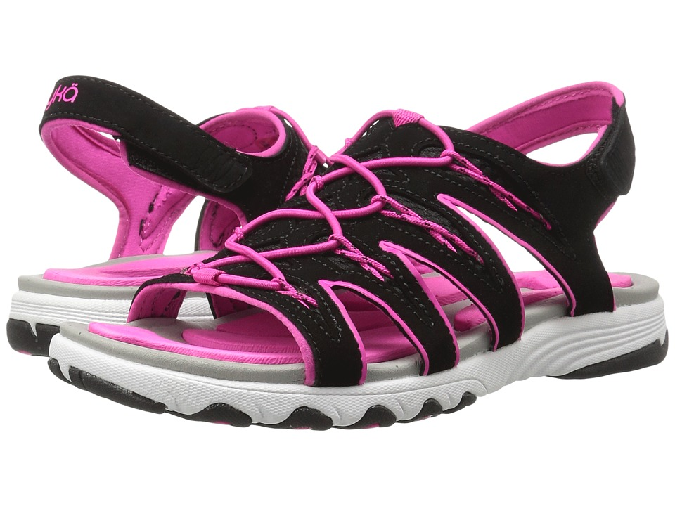 Ryka - Glance (Black/Athena Pink) Womens Sandals