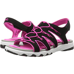 Ryka Women's Glance Athletic Sandal, Black/Pink, 8 W US