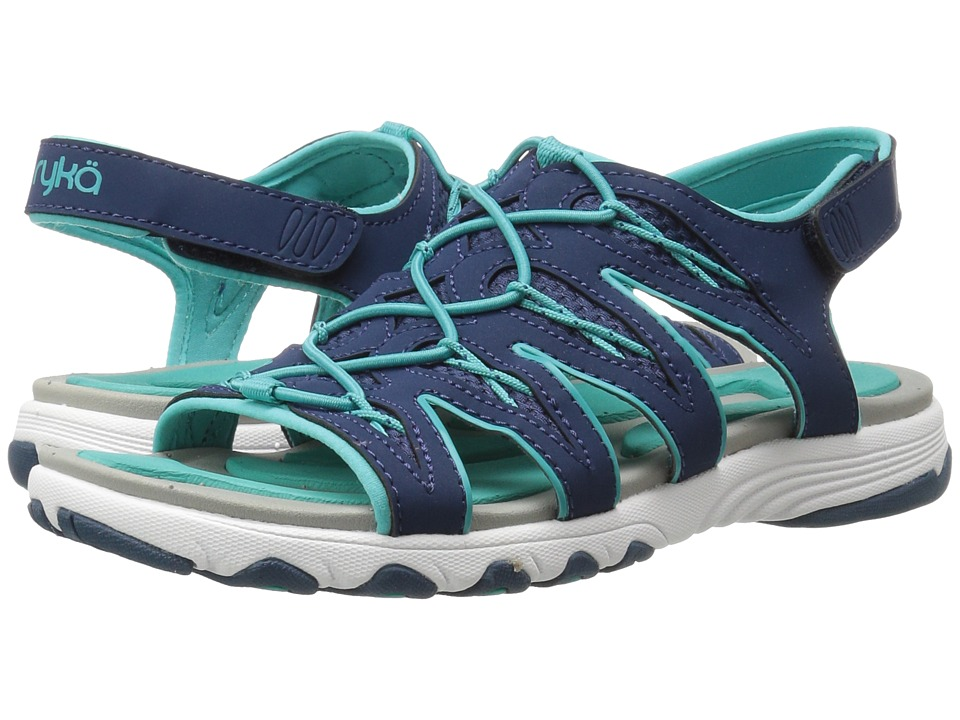 Ryka Glance (Insignia Blue/Teal Blast) Sandals