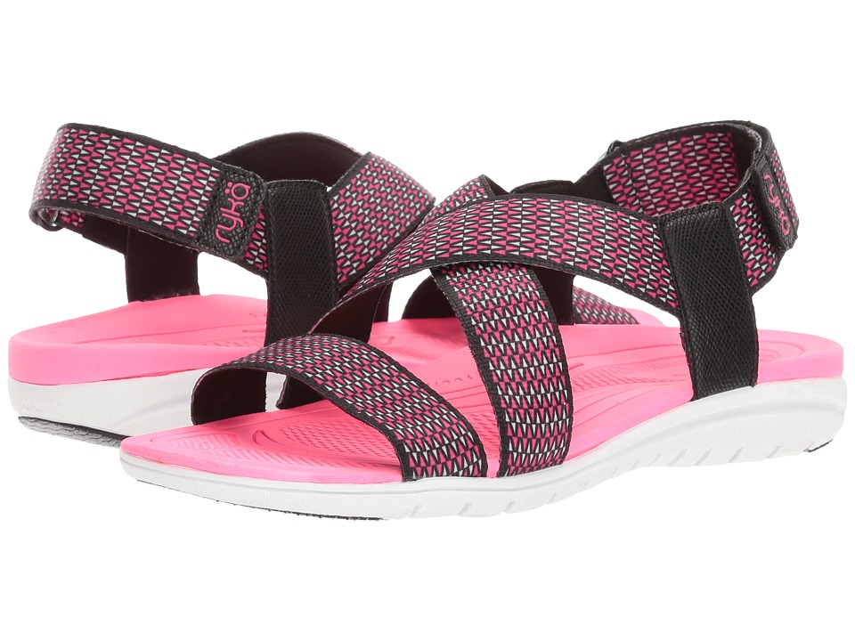 Ryka Belmar (Black/Summer Grey/Neon Flamingo) Women